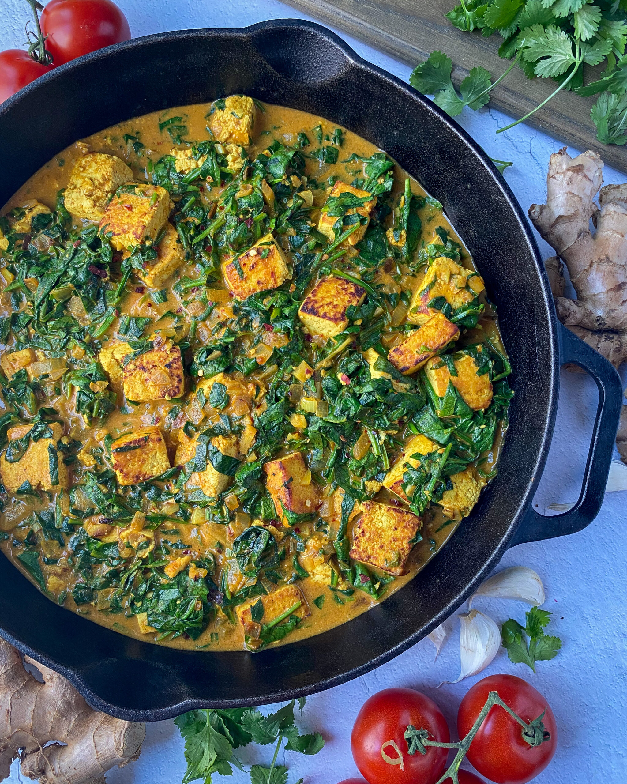Vegan Saag Paneer Recipe