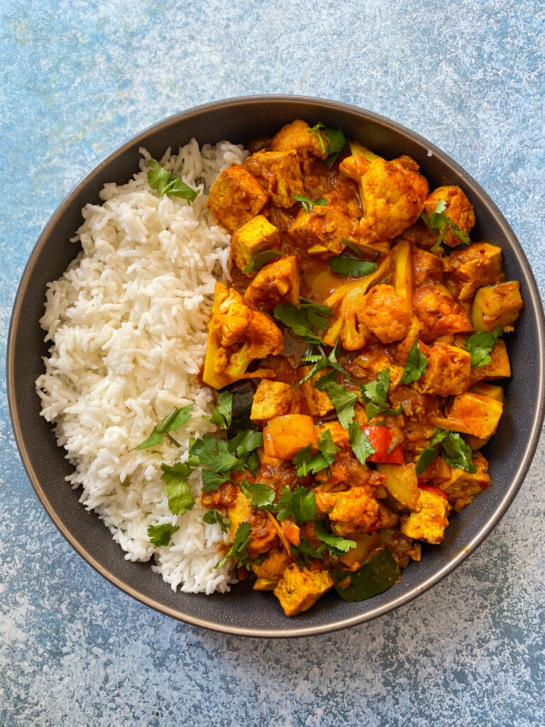 Tofu and Vegetable Vindaloo